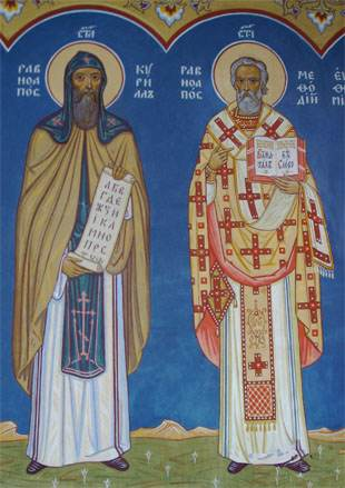 Cyril and Methodius the creators of the Slavic alphabet