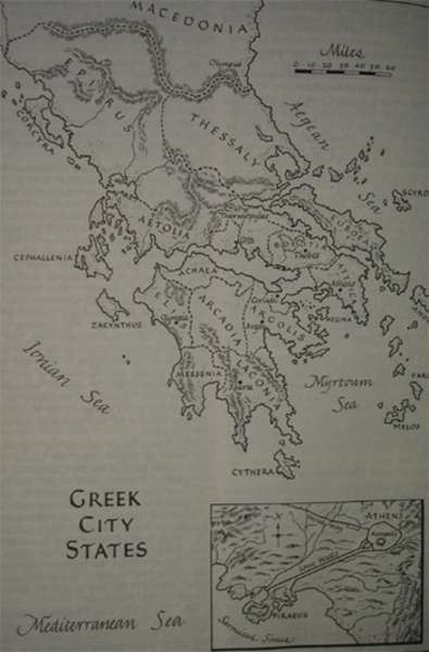 Map of greek city states at 800 BC