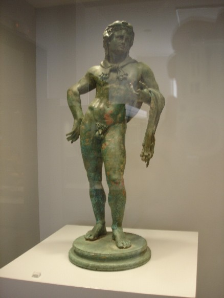 Statuette of Heracles on a round base