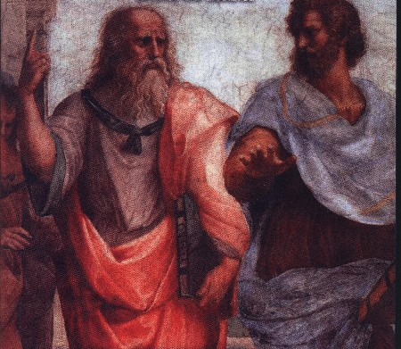 Plato Aristotle painting